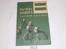 1964 Patrol Leader's Program Notebook, MINT Condition