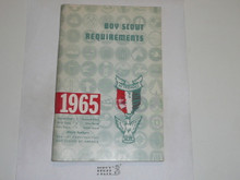 1965 Boy Scout Requirements Book, 1-65 Printing