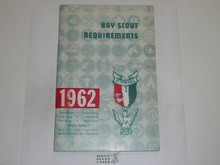 1962 Boy Scout Requirements Book, 9-61 Printing