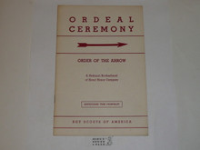 Ordeal Ceremony Manual, Order of the Arrow, 1957, 7-57 Printing