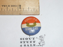 Pledged to be a First Class Scout Boy Scout Button, 1950's-60's