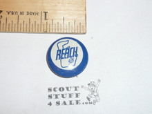 Explorer Scout Reach Metal  Boy Scout Button