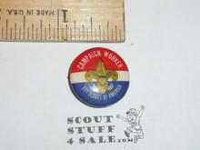Campaign Worker Celluloid Boy Scout Button