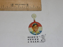 Cub Scout Tin Button, 1950's-60's, litho off center