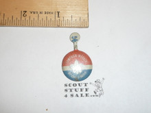 Campaign Worker Boy Scout Tin Button, 1950's-60's, some wear