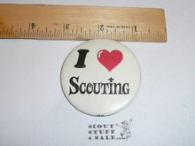 "I Love Scouting 2"" Celluloid Boy Scout Button"
