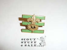Junior Assistant Scoutmaster Hat Pin, Pointed Crown, Post with spin lock