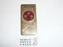 Robert Treat Council Silver Money Clip, used