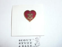 Life Scout Rank Lapel/Mother's Pin, Spin lock Clasp, 17mm Tall, on issue card