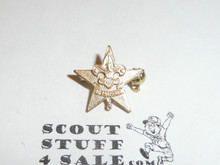 Star Scout Rank Lapel/Mother's Pin, Spin Lock Back, 15mm wide, cast Knot