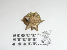 Star Scout Rank Lapel/Mother's Pin, Post Back, 15mm wide, cast Knot