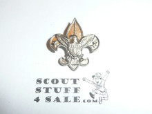 Tenderfoot Scout Rank Pin (Could be used as Generic Scouting Collar Pin), Safety Pin Clasp, 20mm Wide, Be Prepared & BS of A & Pat. 1911 back markings, notched Back, silver color