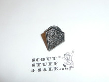 BSA 75th Anniversary Diamond Pin, pewter color