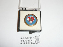BSA 75th Anniversary Pin, new in box