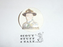 Enameled Baden Powell Bust Pin with 15th World Jamboree on it
