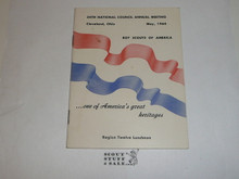 1964 54rd Annual National Boy Scouts of America Meeting, Region Twelve Luncheon Program