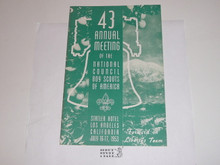 1953 43rd Annual National Boy Scouts of America Meeting Program