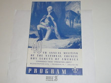 1950 40th Annual National Boy Scouts of America Meeting Program