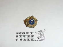 Boy Scout 7 Year Pin, Post Back