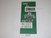 "1963 ""Prepare for a Career in the Boy Scouts of America"" Recruiting Brochure"
