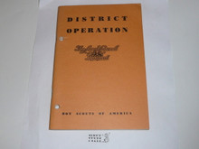 1963 District Operations, Local Council Manual Series, 12-63 printing