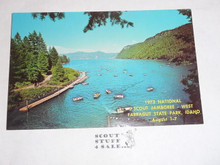 1973 National Jamboree WEST Post Card, Swimming Area