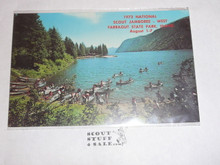 1973 National Jamboree WEST Post Card, Canoeing