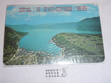 1967 World Jamboree Post Card, Ariel View of Farragut State Park