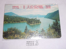 1969 National Jamboree Post Card, Ariel View of Farragut State Park