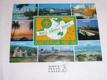 1987-88 World Jamboree Post Card, Major City Pictures and logo