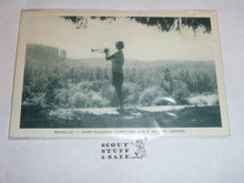 Girl Scout Post card, Camp Kilowan Reveille, Artvue, 1940's-60's