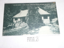 Girl Scout Post card, Camp Namanu Nature House, Artvue, 1940's-60's