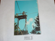 "Region Seven Canoe Base Post card, ""Woodbadge Training"" Signal Tower"