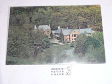 Schiff Scout Reservation Post card, ariel view of main house