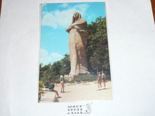 Scouts at Black Hawk Statue in Lowden State Park OR Post card