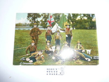 Teen's British Boy Scout Postcard, A Detachment