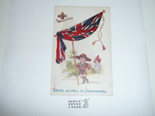 Teen's British Boy Scout Postcard, Useful as Well as Ornamental
