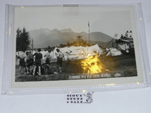 1951 Boy Scout World Jamboree Postcard of Camping Site
