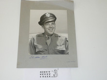 2 Pictures of Alden Barber Back to Back, WWII and Later in Life, 1 Signed