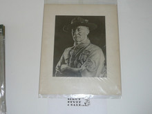 1931 Photograph of Baden Powell Mounted to Posterboard