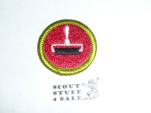 Printing - Type H - Fully Embroidered Plastic Back Merit Badge (1971-2002)