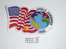 1995 Boy Scout World Jamboree USA Flag Patch