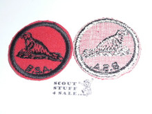 Seal Patrol Medallion, Felt w/BSA black/White ring back, 1940-1955