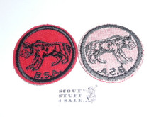 Heyena Patrol Medallion, Felt w/BSA & Solid Black Ring back, 1933-1939