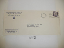 1960's San Fernando Valley Council Blank addressed Stationary Envelope