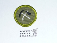 Pioneering - Type F - Rolled Edge Twill Merit Badge (1961-1968)