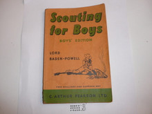 1960 Scouting for Boys, By Sir Robert Baden-Powell, Boys' Edition