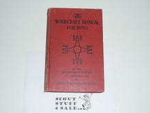 1920 The Woodcraft Manual for Boys of the Woodcraft League, Hardbound, Spine Wear, By Ernest Thompson Seton
