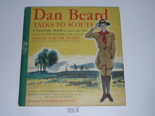 1940 Dan Beard Talks to Scouts, Record and Book With Dust Jacket