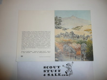 Baden Powell Painting on Greeting Card Made By Unicef, Inside Blank, Zebra in Kenya